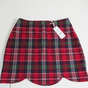 NWT Vineyard Vines Red Tartan Plaid Skirt Szie 4